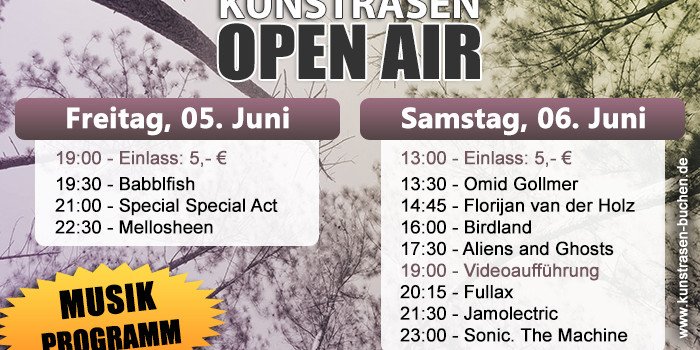 Line-Up Kunstrasen Open Air 2015